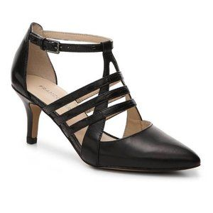 Franco Sarto Heels Fernleaf Black Strappy Size 8.5